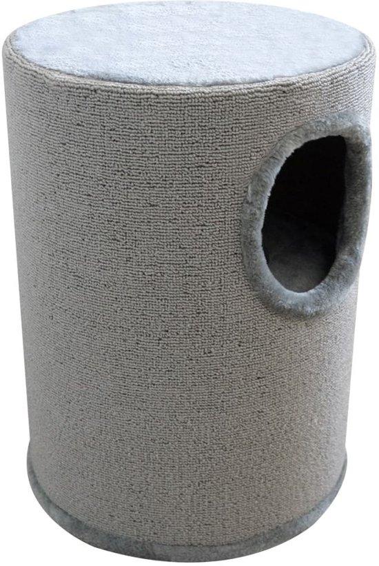 vidaXL Kattenhuis/krabpaal grijs 50 cm