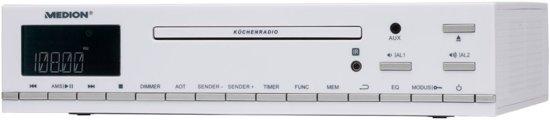 MEDION LIFE E66281 Onderbouw radio (Wit)