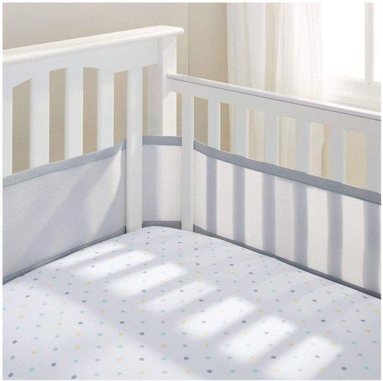 Ademend Baby Mesh-kinderbedje / inlegkruisje 4-zijdig - grijs