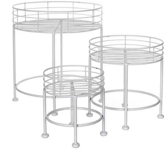 Mica Decorations gardino planttafel wit set van 3 grootste maat in cm: 35 x 32
