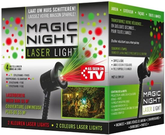 bol.com | Magic Night Laser Light kerstverlichting laserpojector ...