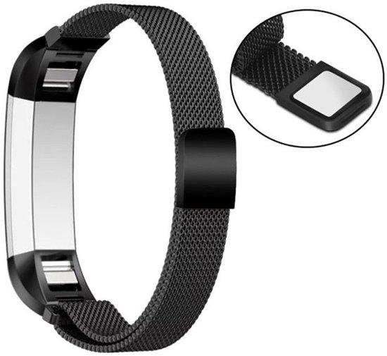 Milanees Horloge Band Voor de Fitbit Alta HR - Metalen Milanese Watchband - Large / Small Armband RVS - Zwart