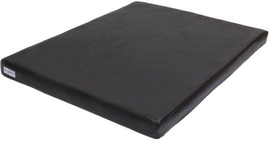 Bol topmast hondenkussen benchkussen leatherlook zwart maat