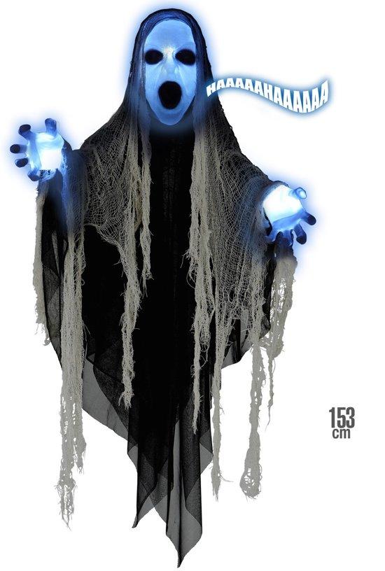 Geluiden Halloween.Bol Com Halloween Decoratie Van Reaper Met Licht En