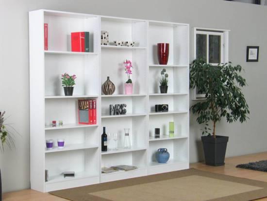 tvilum mary boekenkast wit set van 3 stuks