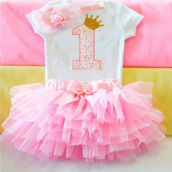 Beste bol.com | Eerste verjaardag tutu jurkje voor een meisje KC-03