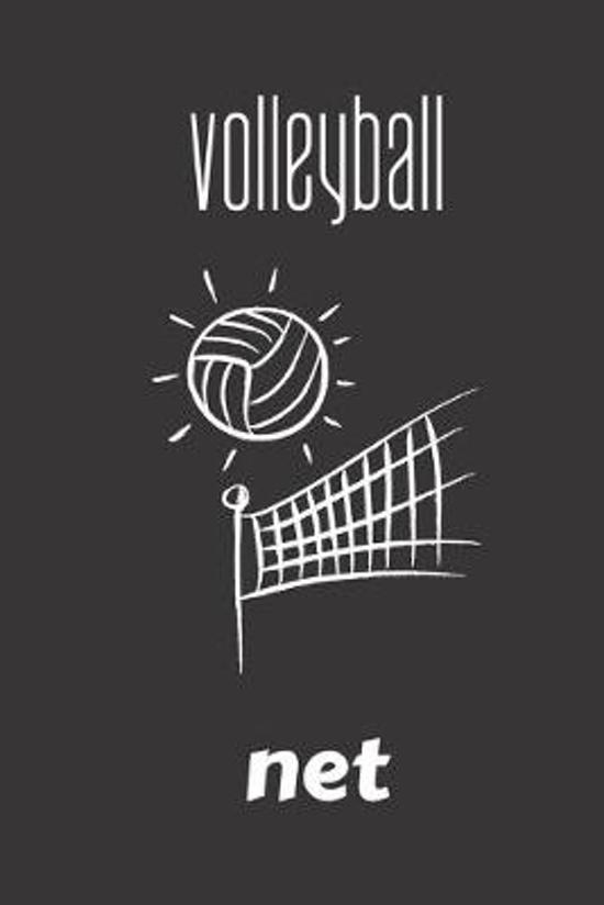 volleyball net: small lined Volleyball Notebook / Travel Journal to write in (6'' x 9'') 120 pages