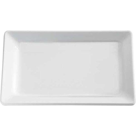 """Melamine serveerplateau """"pure"""", 60x20 cm, wit, set van 2 stuks"""