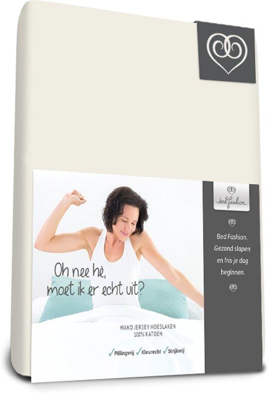 Bed-Fashion Mako Jersey hoeslakens de luxe 200 x 210 cm creme