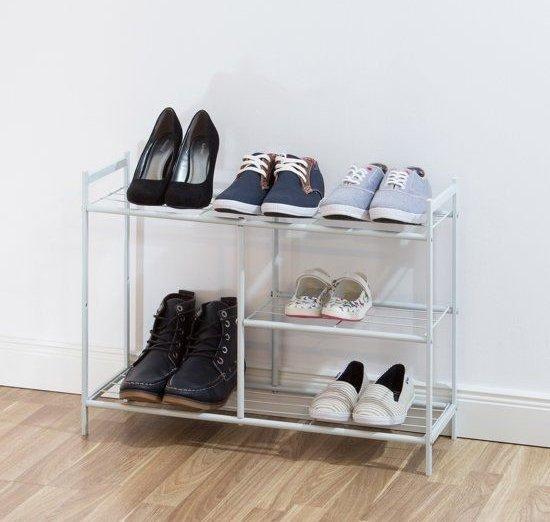 Laarzen Opbergen In Kast.Bol Com Relaxdays Schoenenrek Voor Laarzen Schoenenkast 8 Paar