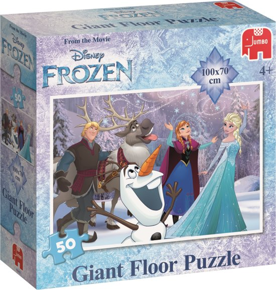Disney Frozen Extra Grote Vloerpuzzel - 50 Stukjes