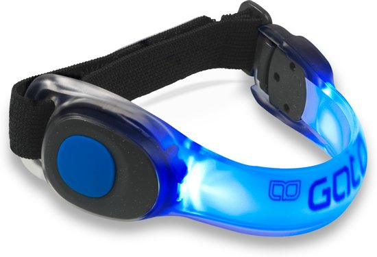 Gato sports - Neon led armband, sportarmband - blauw