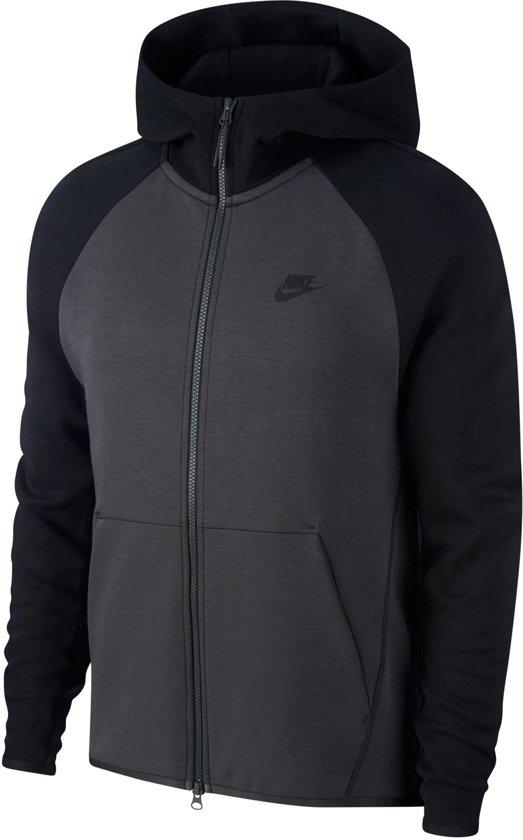 0618ce8f373 Nike NSW Tech Fleece Hoodie Fz Vest Heren - Anthracite/Black - Maat S