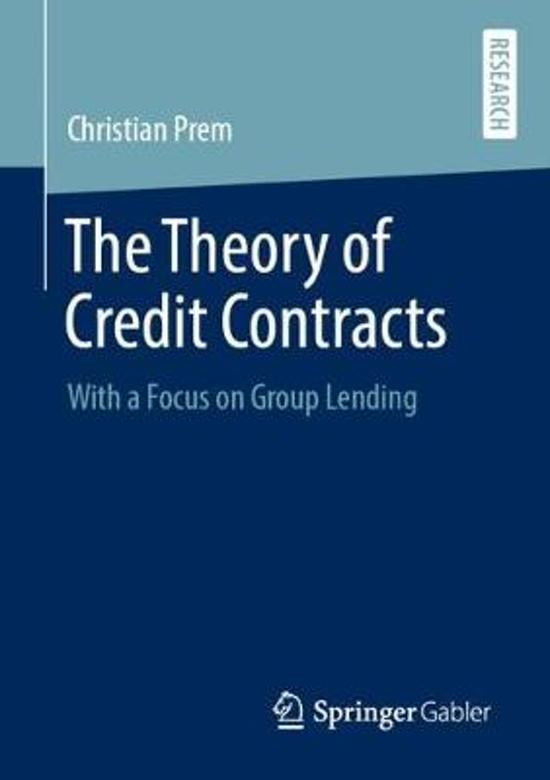 The Theory of Credit Contracts