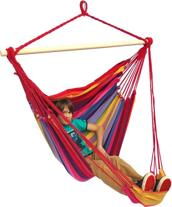 Hangstoel 'Tropical' raspberry lounge