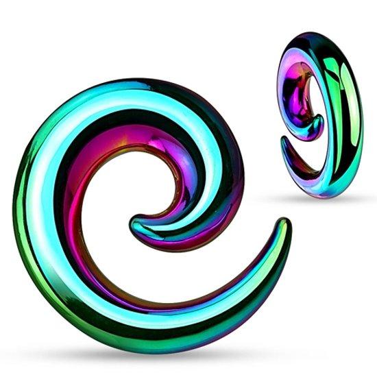 12 mm taper spiraal regenboog kleur