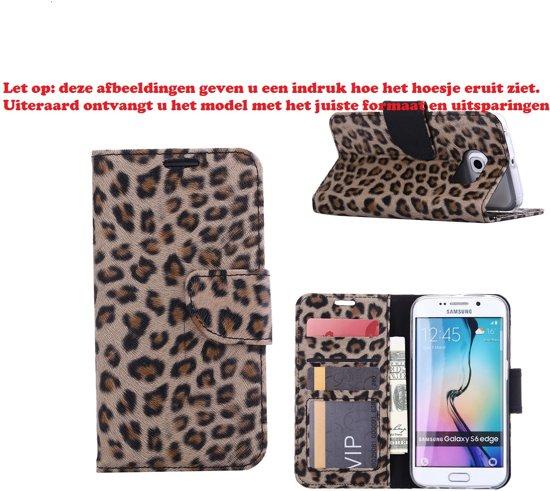 Xssive Hoesje voor Samsung Galaxy Trend Lite S7390 Boek Hoesje Book Case Luipaard Print in Tweehuizen
