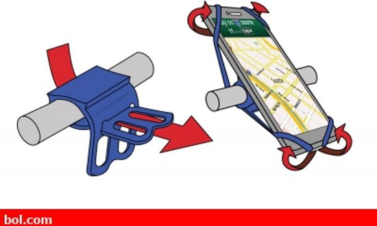 OTG telefoonhouder fiets - Universeel - tot 6.5 Inch