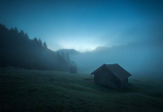 Fotobehang Blue Morning|VEXXXXL - 416cm x 290cm|Premium Non-Woven Vlies 130gsm
