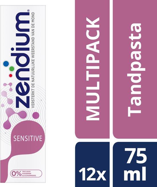 Zendium Sensitive - 75 ml - Tandpasta - 12 stuks - Voordeelverpakking