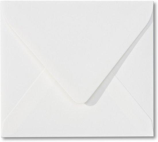 100 Luxe Enveloppen - Vierkant - Wit - 14x14cm