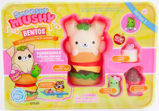 Smooshy Mushy Bento Box Hondje Squishy - Speelfiguur