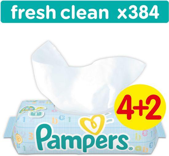 Pampers Fresh Clean - 384 Stuks (6x64) - Babydoekjes