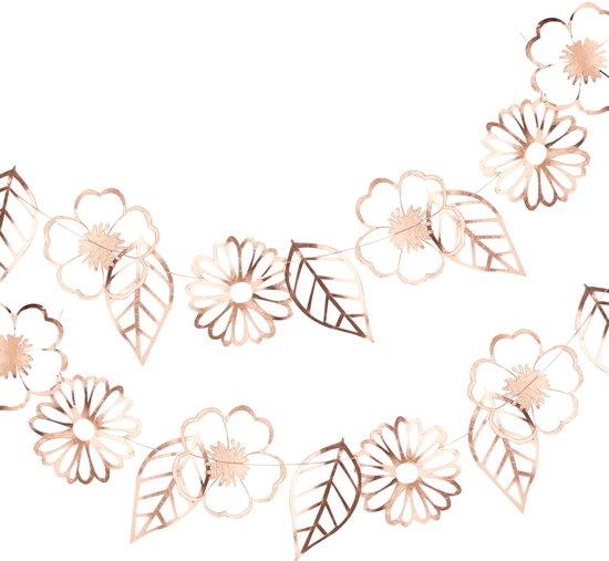 Ginger Ray Ditsy Floral - Bloemen slinger - rosé goud - 3 meter Valentinaa