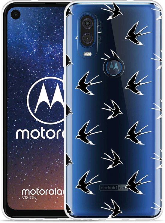 Motorola One Vision Hoesje Swallows