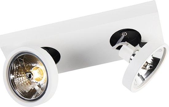 QAZQA Ga - Plafond spot - 2 lichts - L 330 mm - Wit