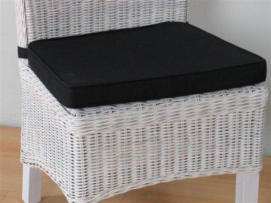 Bol stoelkussen zwart voor rotan stoel larissa cm