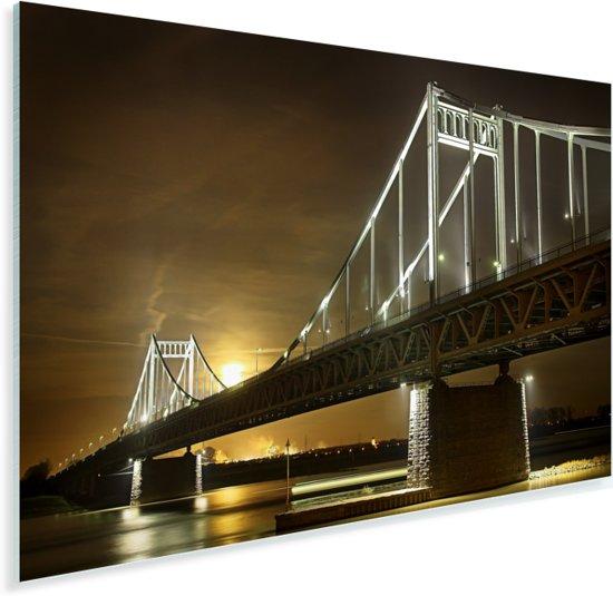 De brug van Krefeld in Duitsland Plexiglas 60x40 cm - Foto print op Glas (Plexiglas wanddecoratie)
