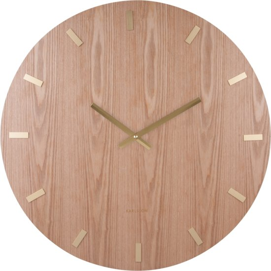 Karlsson Wood XL Wandklok à 70 cm