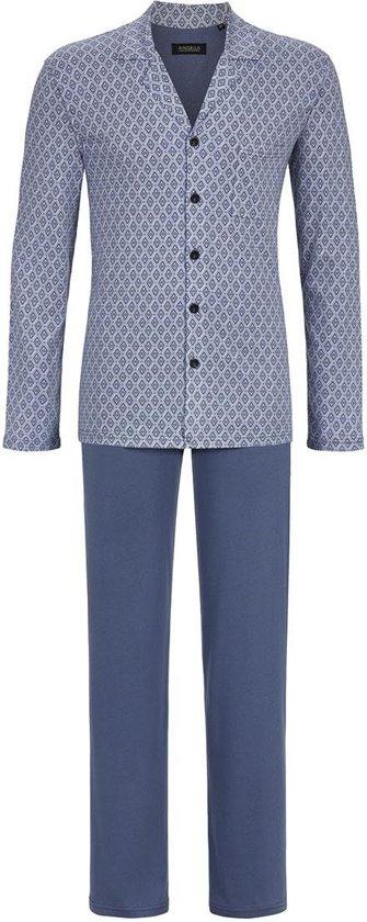 d88cccfb8dd Blauwe heren pyjama met knopen Ringella