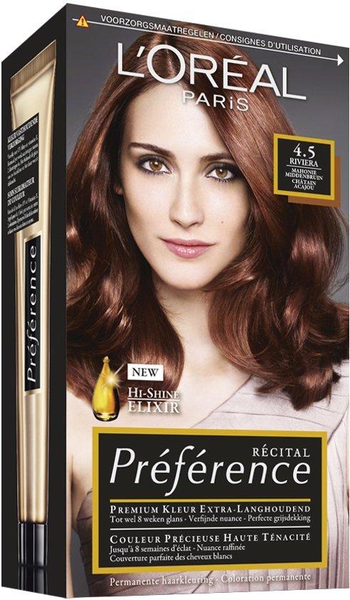 Voorkeur bol.com | L'Oréal Paris Préférence Récital - 4.5 Mahonie  @UC56