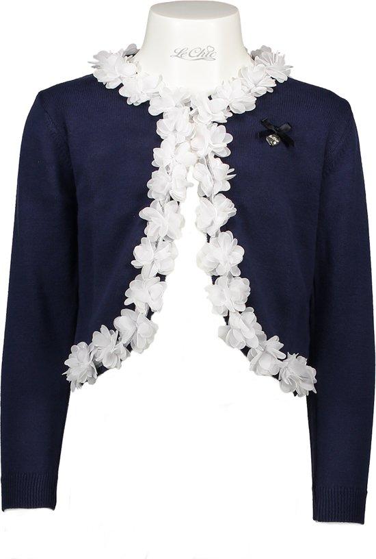 Bolcom Le Chic Meisjes Vest Blue Marine Maat 116