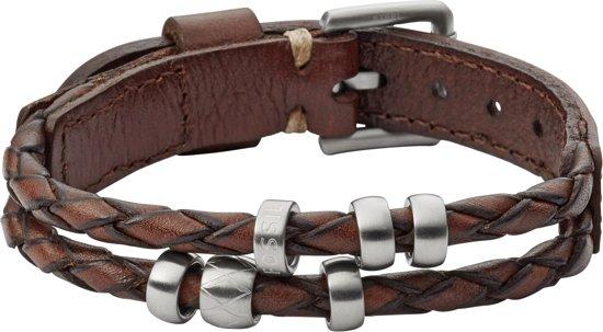 Fossil JF02378793 Lederen Armband