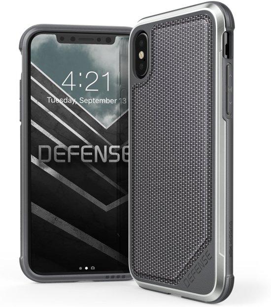 X-Doria Defense Lux cover - zwart ballistic nylon - voor iPhone X