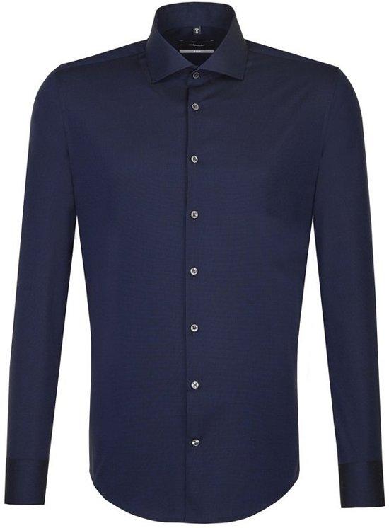 Seidensticker overhemd X-slim donkerblauw, maat 43