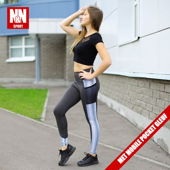 | N&N Push Up Sportlegging Met Mobile Pocket System