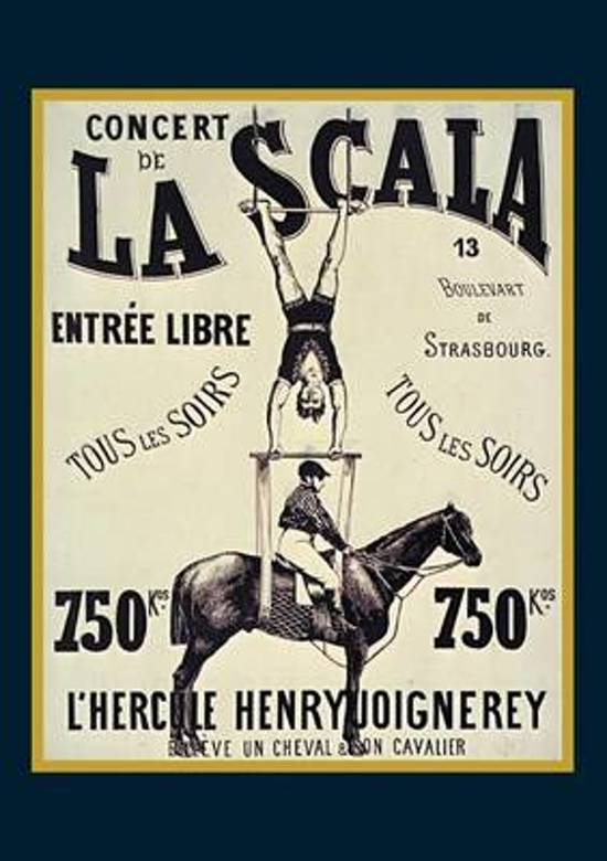 Carnet Lign� Affiche La Scala l'Hercule