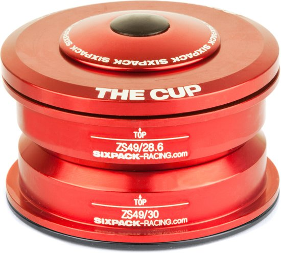 Sixpack The Cup Headset ZS49/28.6 I ZS49/30, red