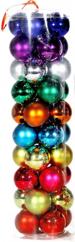 Bol Com Gekleurde Kerstballen 6 Cm 40 Stuks