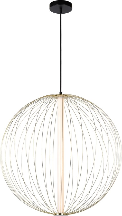 Lucide CARBONY - Hanglamp - Ø 60 cm - LED - 1x10W 2700K - Messing