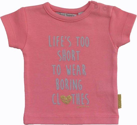 Babykleding Meisje Maat 50.Bol Com Zero2three Babykleding Meisjes T Shirt Maat 50