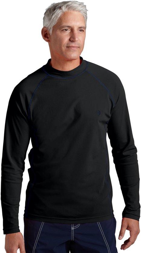 Coolibar UV zwemshirt Heren - Zwart - Maat S
