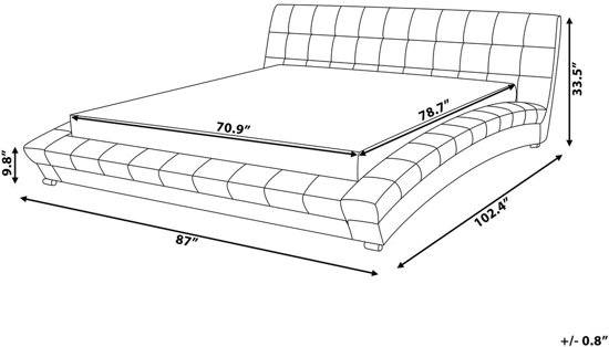 Beliani Lille Bed Grijs polyester