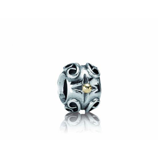 Pandora - Bedel - 790265 - Zilveren Charm met 14 krt goud - Zilveren bedel