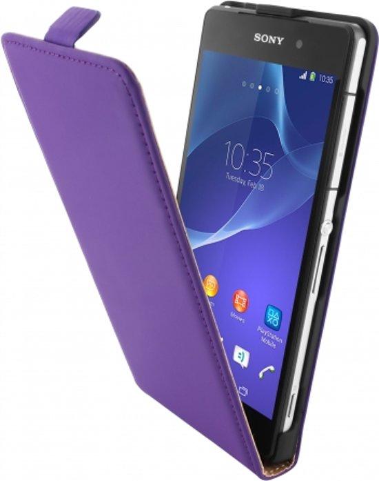 Mobiparts Premium Flip Case Sony Xperia Z2 Purple in Stommeveld