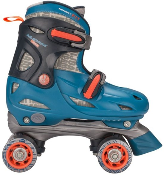 5b73db08556 Nijdam Junior Rolschaatsen Junior Verstelbaar Hardboot - Blauw - Maat 34-37